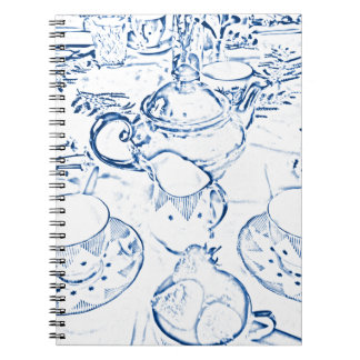 Afternoon Tea in Blue Notebook