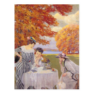Afternoon tea in the park postcards