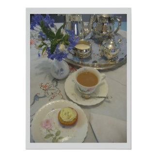 Afternoon tea ladies party 6.5x8.75 paper invitation card