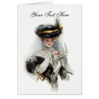 Afternoon Tea Lady Greeting Card
