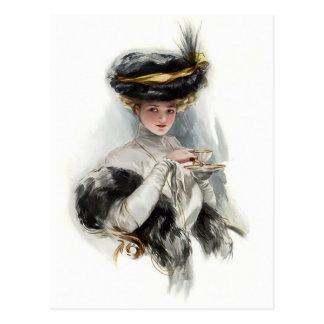 Afternoon Tea Lady Postcard