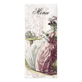 Afternoon Tea! Menu, on Linen Card