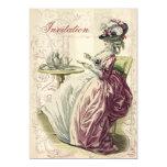 """Afternoon Tea, on ivory, 5"""" X 7"""" Invitation Card"""