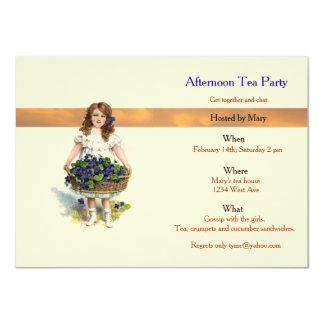 afternoon tea party card