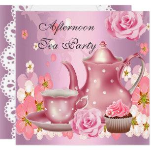 afternoon tea invitations zazzle