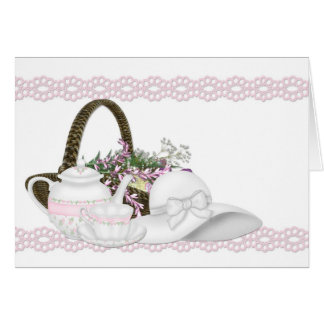 Afternoon Tea Pink Note Card
