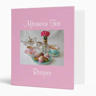Afternoon Tea Recipe File 3 Ring Binder