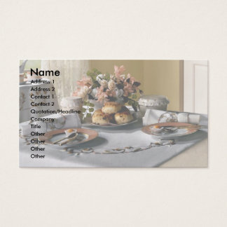Afternoon tea setting business card