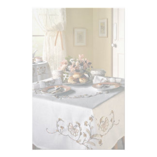 Afternoon tea setting stationery