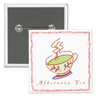 Afternoon Tea Square Button