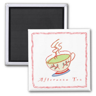 Afternoon Tea Square Magnet
