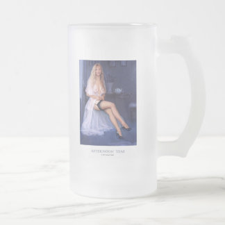 """""""AFTERNOON TEAS""""  Pinup girl frosted beer mug"""