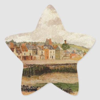 Afternoon, the Dunquesne Basin, Dieppe, Low Tide Star Sticker