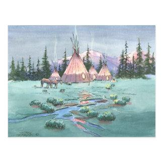 AFTERNOON TIPI CAMP by SHARON SHARPE Postcard