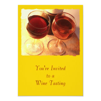 """Afternoon Toast 5"""" X 7"""" Invitation Card"""