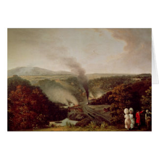 Afternoon view of Coalbrookdale, 1777 Greeting Card