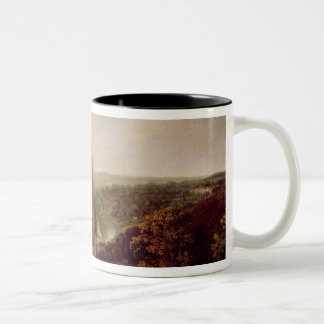 Afternoon view of Coalbrookdale, 1777 Two-Tone Coffee Mug