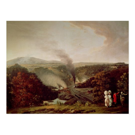 Afternoon view of Coalbrookdale, 1777 Postcard