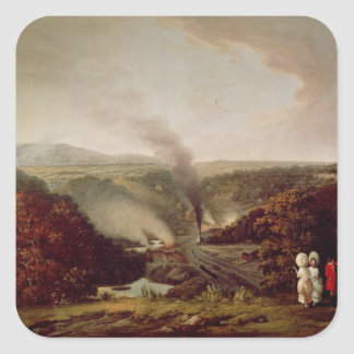 Afternoon view of Coalbrookdale, 1777 Square Stickers