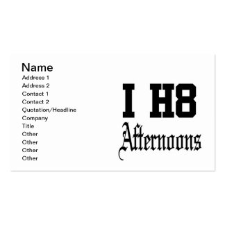 afternoons business card