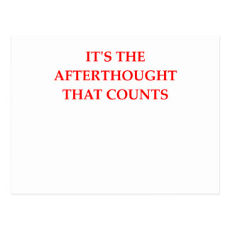 afterthought postcard