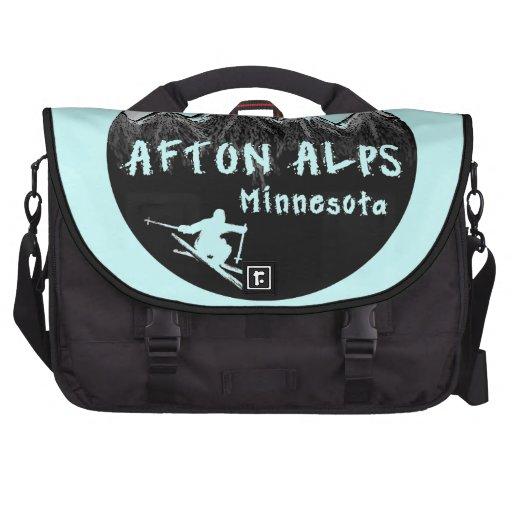 Afton Alps Minnesota skier Laptop Bag