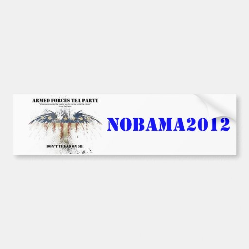 AFTP NoBama Sticker Car Bumper Sticker
