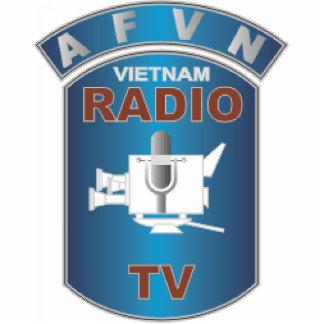AFVN - Red de Vietnam de las fuerzas americanas Fotoescultura Vertical