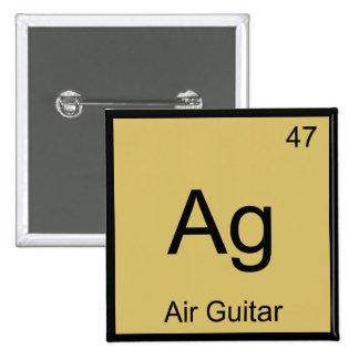 Ag - Air Guitar Chemistry Element Symbol Music Tee Pin