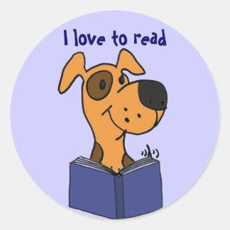 AG amor de I para leer a los pegatinas del dibujo Pegatina Redonda