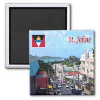 AG - Antigua y Barbuda - calle de Johns del santo Imán Cuadrado