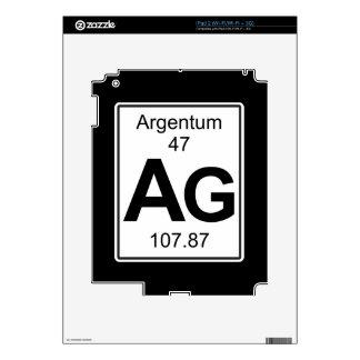 AG - Argentum Skin Para El iPad 2