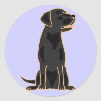 AG- Black Labrador Round Stickers
