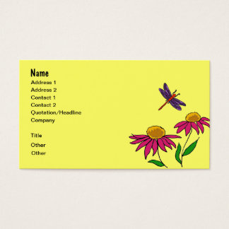 AG- Flowers, Frog, and Dragonfly Business Cards