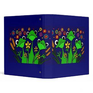 AG- Folk Art Frogs Binder