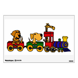 AG- Funny Dogs on a Train Wall Decal