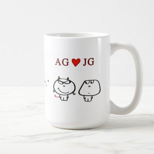 """AG heart JG"" Coffee Mug"