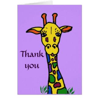 AG la jirafa le agradece cardar Tarjeton