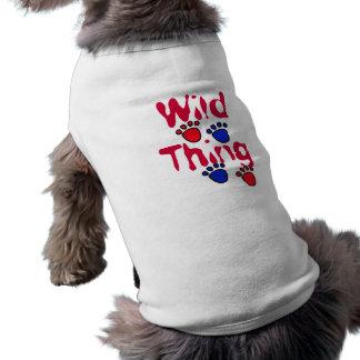 AG ropa salvaje del mascota de la cosa Playera Sin Mangas Para Perro