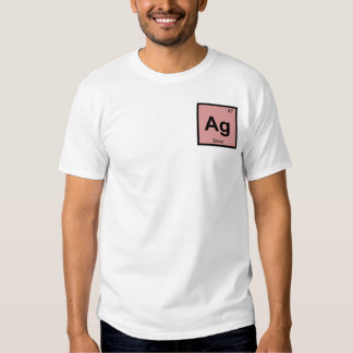 AG - Símbolo de plata de la tabla periódica de la Camisas