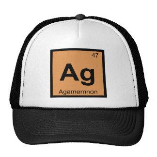 AG - Tabla periódica de la química griega de Gorros Bordados