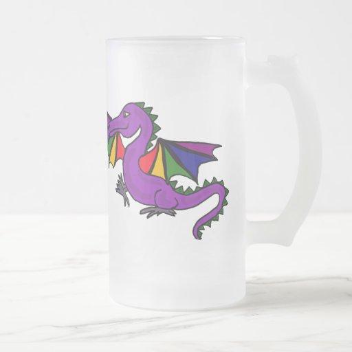 AG taza del arte del dragón de vuelo