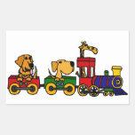 AG tren del dibujo animado con los perros y la jir Rectangular Altavoces