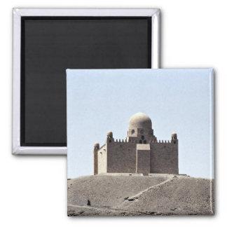 Aga Khan Tomb, Aswan, Egypt Desert 2 Inch Square Magnet