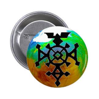 Agadez Cross 2 Inch Round Button
