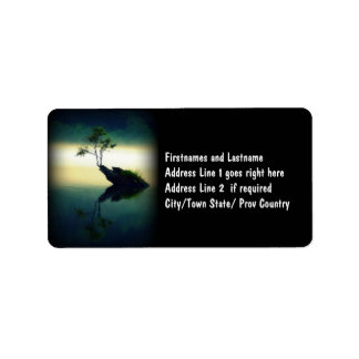 Against All Odds - Beautiful Tree Photograph Label