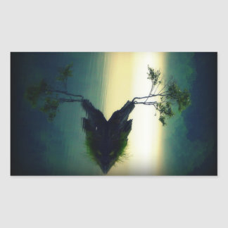 Against All Odds - Beautiful Tree Photograph Rectangular Sticker