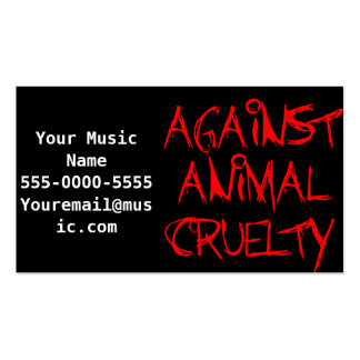 Against Animal Cruelty Emo Business Cards Business Card Templates