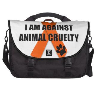 Against Animal Cruelty Orange Awareness Ribbon Commuter Bags