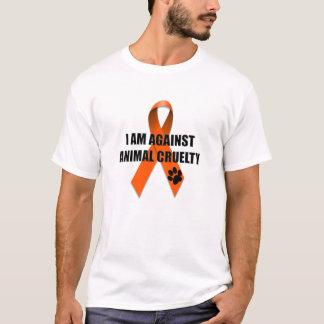 Against Animal Cruelty Orange Awareness Ribbon T-Shirt